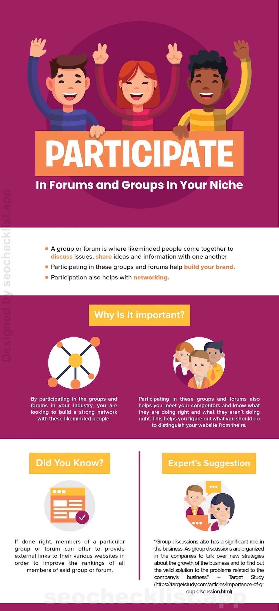 Participate In Forums and Groups In Your Niche